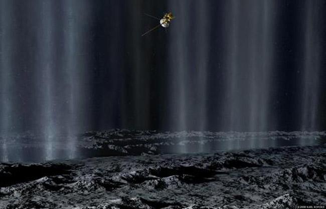 Cassini Probe Sets Sights on Icy Saturn Moon