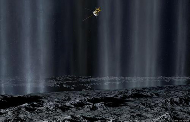 Under the Saturn Moon's Sea?