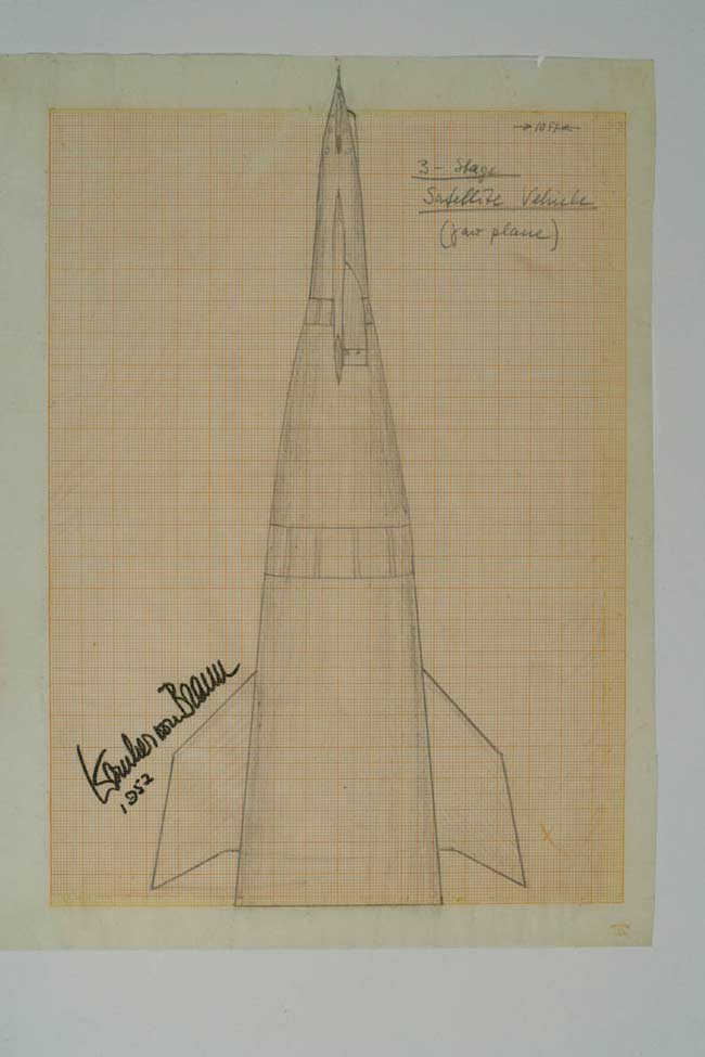 Von Braun Sketches to Be Auctioned