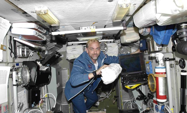 Space Tourist Settles in Aboard Station