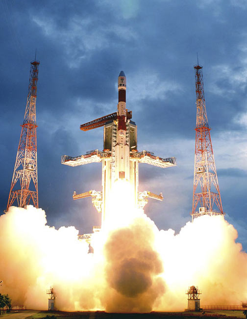 India Celebrates Launch of First Moon Probe
