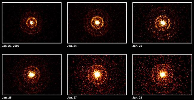 Star Emits Intense Celestial Fireworks