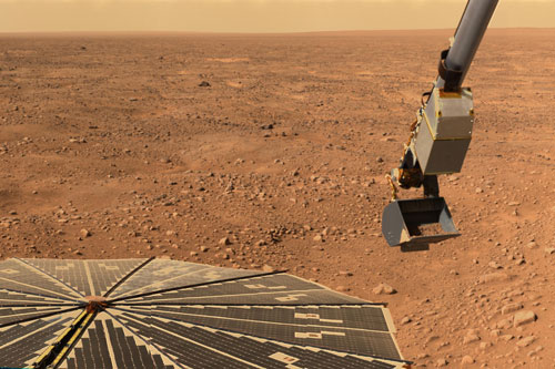 Mars Lander Still Phoning Home as Power Dips