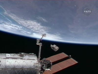 Space Station Trash Burns Up Over South Pacific