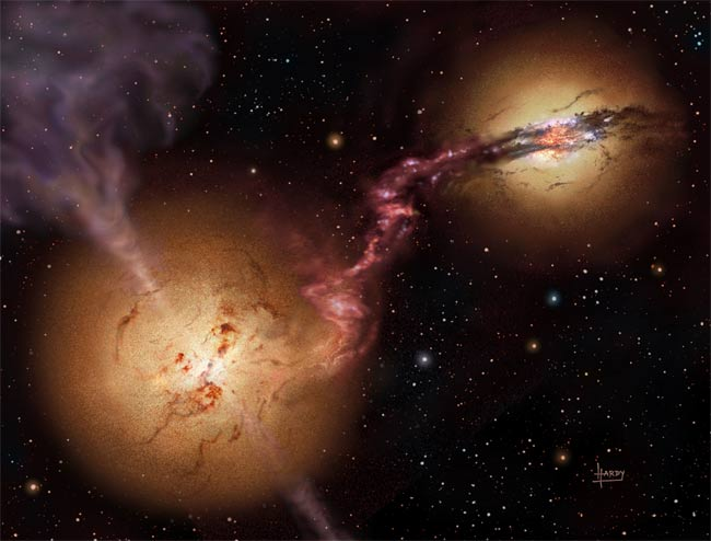 Merging Galaxies, Active Black Holes
