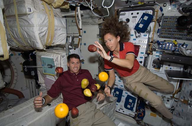 Fun with Fruit in Zero Gravity