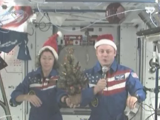 Astronauts Send Christmas Wishes from Space