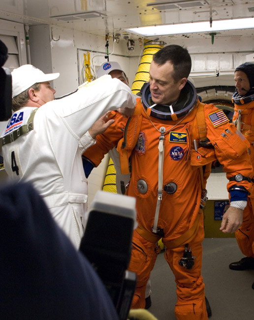 Astronauts Rehearse Space Shuttle Launch