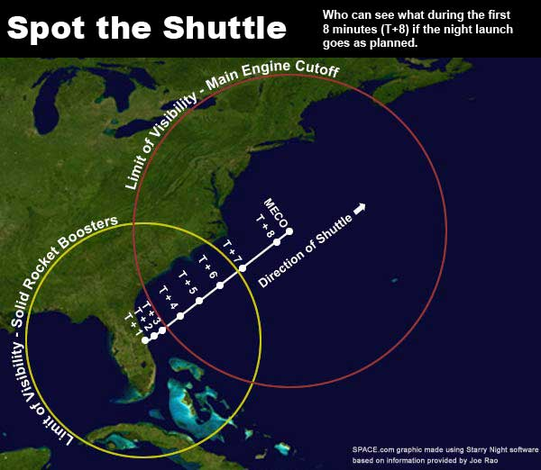 Last Ever Night Shuttle Launch Visible From Eastern United States
