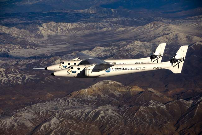 Test Flights Ahead for SpaceShipTwo Mothership
