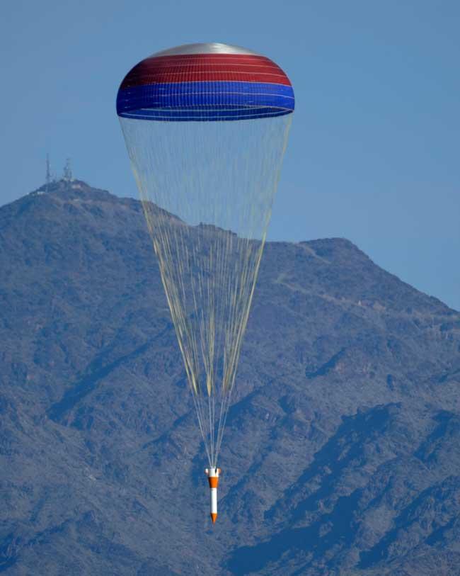 NASA Drops 50,000-pound Dummy Rocket on Arizona