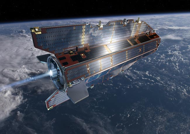 GOCE Satellite in Orbit