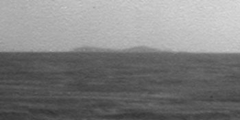Mars Rover Glimpses Far-Off Crater Destination