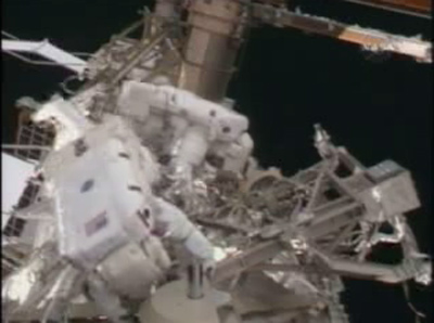 Space Teachers Team Up in Spacewalk