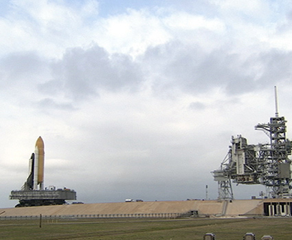 Hubble-Saving Space Shuttle Moves to Launch Pad
