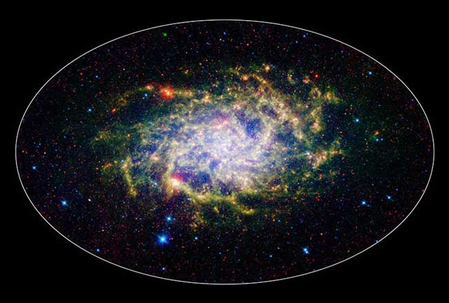 Nearby Galaxy Looks Bigger in Infrared