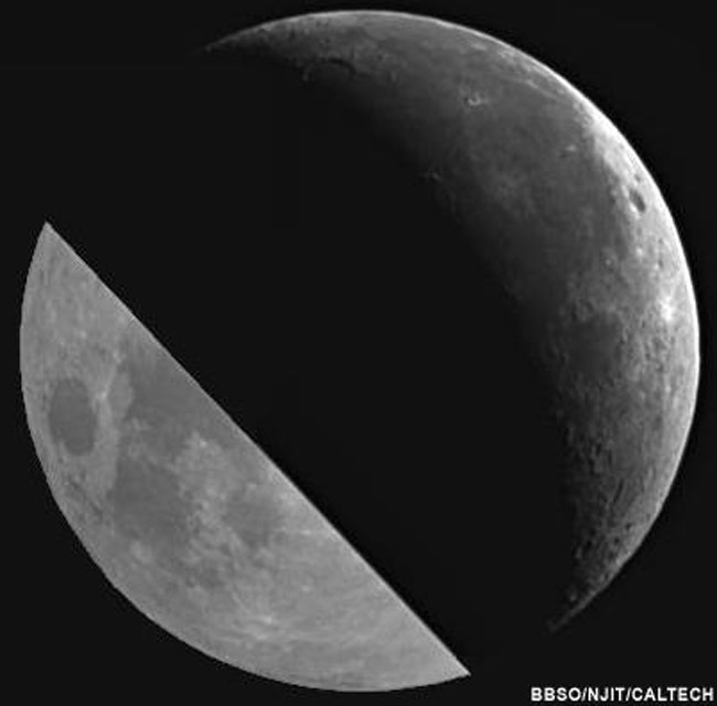 Earth's Reflection Varies on the Moon