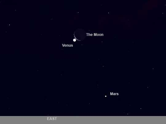 Moon to Hide Venus Wednesday Morning