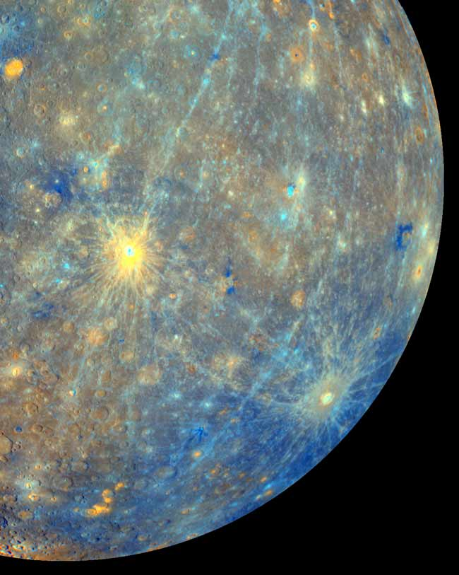 Huge Impact Crater on Planet Mercury