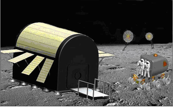 Giant Moon Blanket Could Protect Astronauts