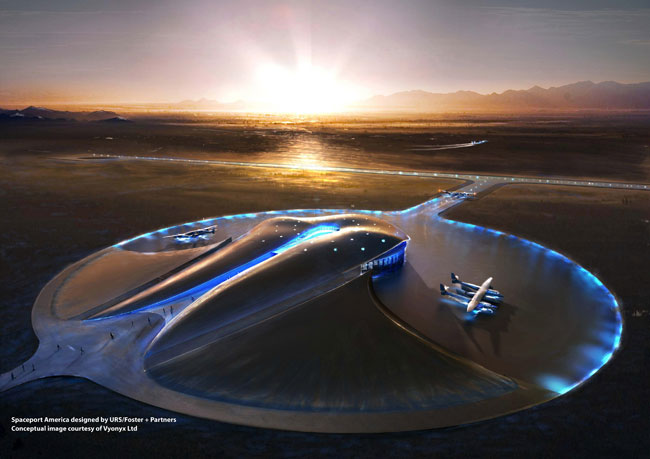America's 1st Commercial Spaceport Blooms in the Desert