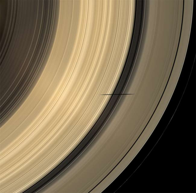 Saturn Rings Cast in Rare Light