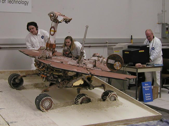 Test Rover in Place, NASA Prepares to Free Spirit