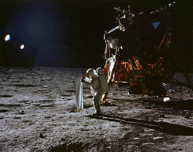 Aldrin Outside Lunar Lander