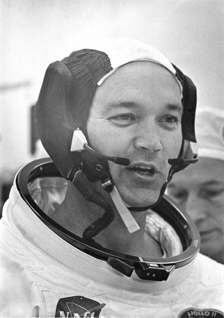 Michael Collins Before Boarding Apollo 11 Mission