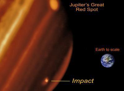 Jupiter's New Bruise Big As Pacific Ocean