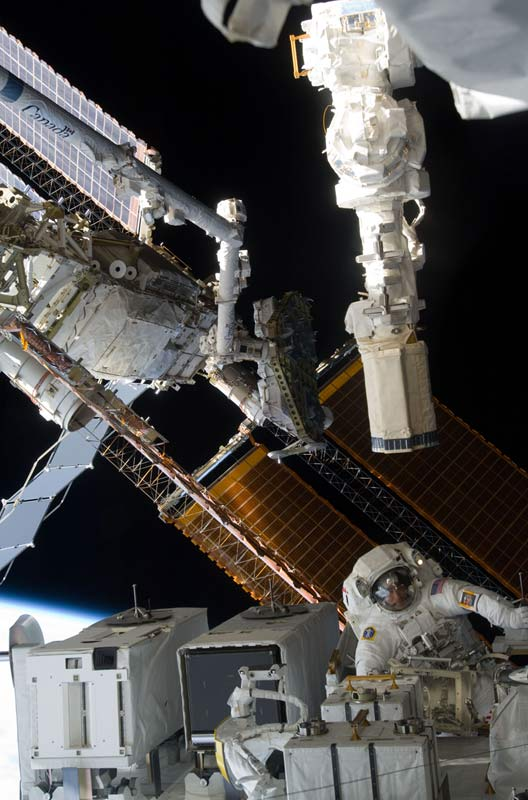Astronauts to Replace More Aging Batteries in Spacewalk