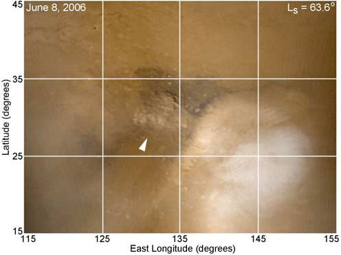 Lightning Detected on Mars