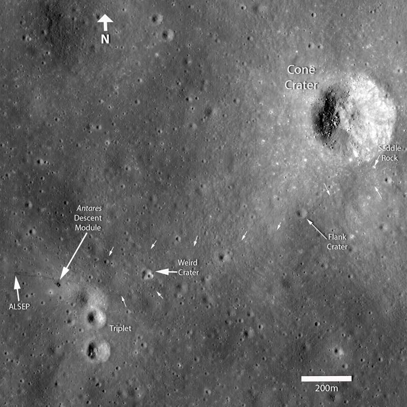 New Moon Photo Reveals Tracks from Tough Apollo Moonwalk
