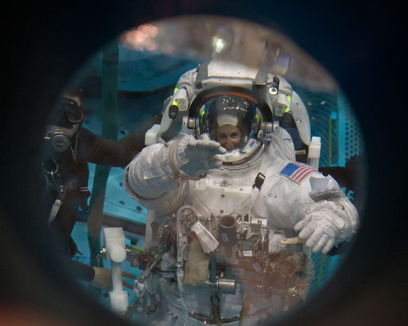Astronauts Prepare for Mission's First Spacewalk