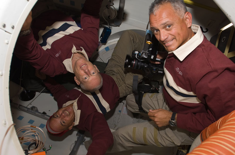 Astronauts Take a Break From Busy Space Mission