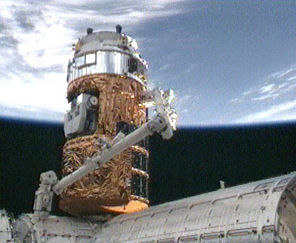 Space Station Crew Welcomes Japan's First Cargo Ship