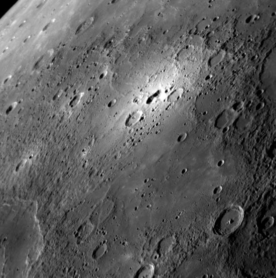 Mercury's Mysterious Bright Spot Photographed Up Close