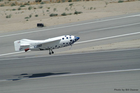 The only privately-developed spacecraft to carry a pilot to suporbital space, SpaceShipOne made three successful flights in 2004. Built by aerospace visionary Burt Rutan and financed by Microsoft co-founder Paul Allen, the spacecraft won the $10 million Ansari X Prize. An evolved version, SpaceShipTwo, will serve as the foundation for Virgin Galactic's fleet of suborbital space tourism vehicles.