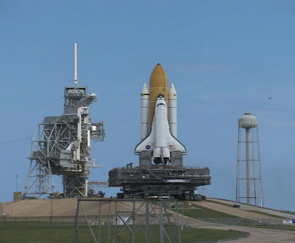 Shuttle Atlantis Moves to Launch Pad for November Flight