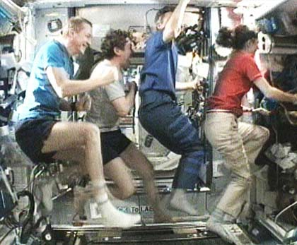 Astronauts Build Stephen Colbert's Space Treadmill