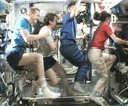 Astronauts Build Stephen Colbert's Space Treadmill