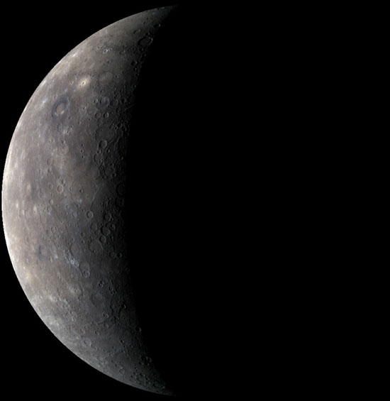 NASA Probe Sees Changing Seasons on Mercury