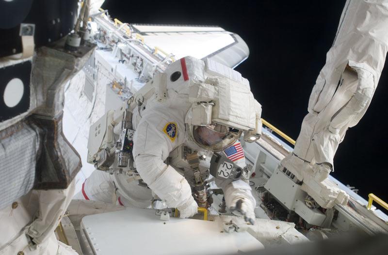 Astronauts Prepare for Second Spacewalk, New Baby
