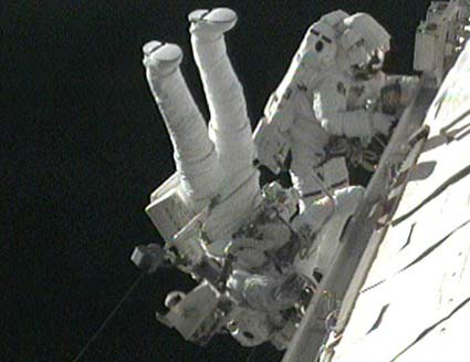 Astronauts Wrap Up Final Tasks in Delayed Spacewalk
