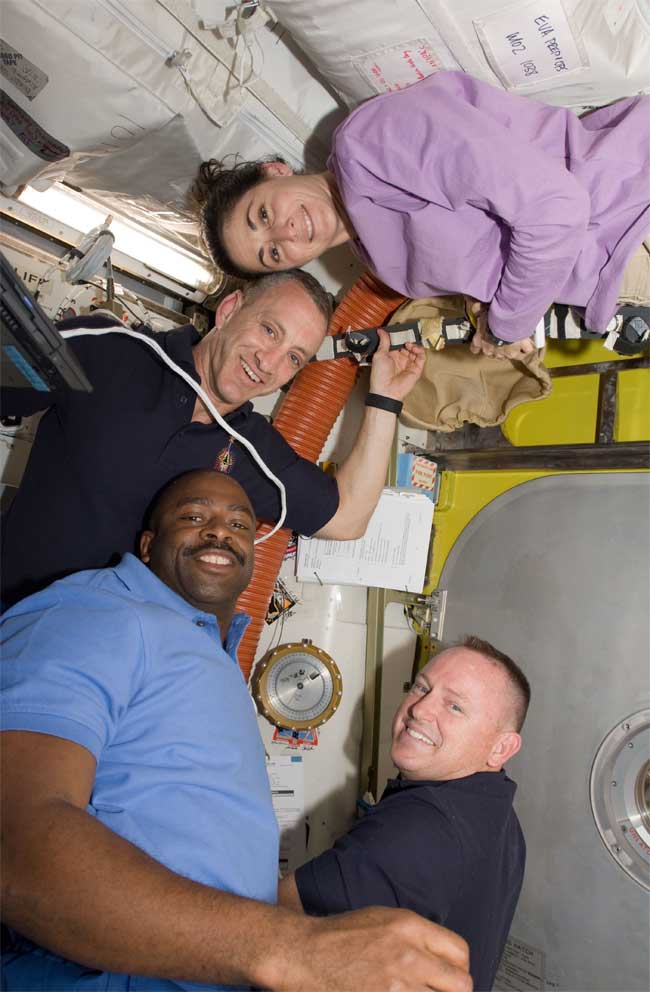 Shuttle Astronauts Take Time Off in Space