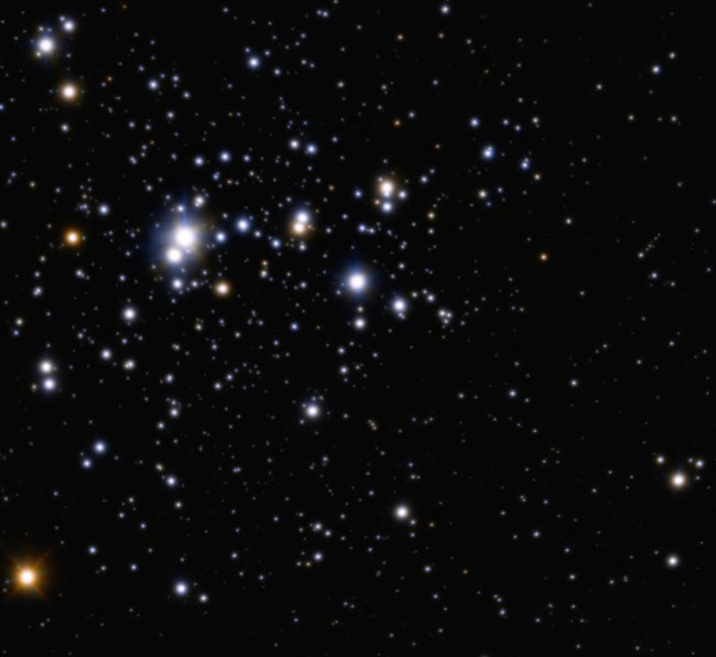 Distant Young Star Cluster Seen in Ultra-Sharp View