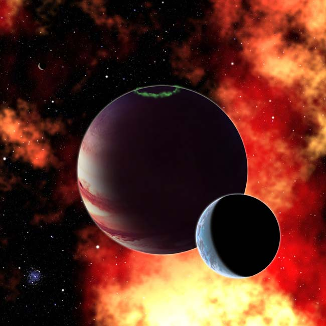 Gas Giant with Moons: Yavin