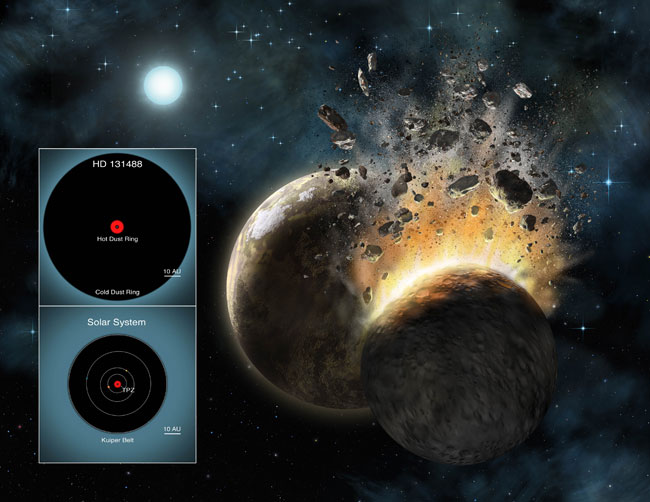 Alien Dust Kicked Up By Baby Planet Collisions