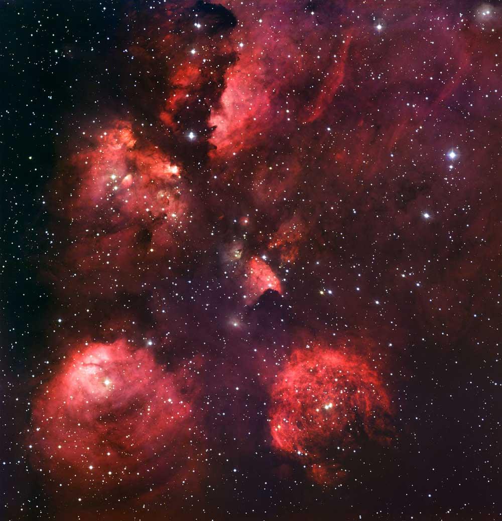 Glowing Nebula Reveals Cosmic Cat's Paw
