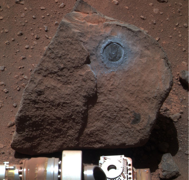 Weird Rock Offers Glimpse Deep Inside Mars
